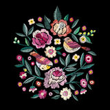 Fashion vector embroidery. Vector illustration Royalty Free Stock Image
