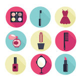 Fashion vector flat  icons Royalty Free Stock Photography