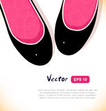 Fashion vector illustration of elegant girls shoes on white background. Royalty Free Stock Image