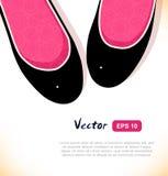Fashion vector illustration of elegant girls shoes on white background. Royalty Free Stock Image