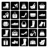 Fashion vector shoes and bags Royalty Free Stock Photography