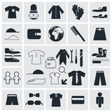 Fashion Vector Square Flat Icons Stock Images