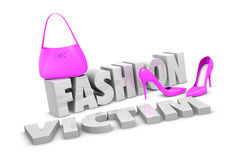 Fashion victim concept Royalty Free Stock Images
