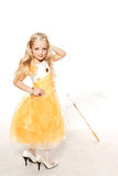 Fashion victim little princess girl portrait Stock Images