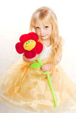 Fashion victim little princess girl portrait Royalty Free Stock Image