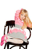 Fashion victim little princess girl portrait Stock Photos