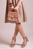 Fashion vintage girl Stock Images