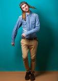 Fashion vintage men Royalty Free Stock Image