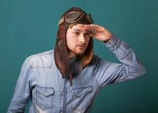 Fashion vintage men Stock Images