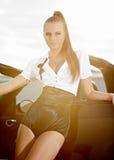 Fashion  vintage woman Stock Photos