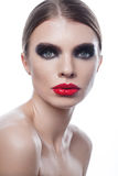 Fashion vogue portrait of a beautiful woman with beauty face Stock Photo