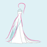 Fashion wedding dress Royalty Free Stock Photos