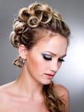 Fashion wedding hairstyle royalty free stock photos