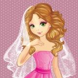 Fashion Wedding Makeup For Bride Stock Photos