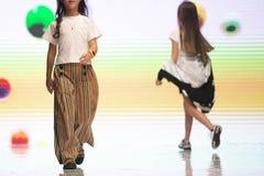 Fashion week models runway kids royalty free stock photography