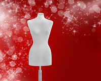 Fashion winter background. Real mannequin being used Royalty Free Stock Photos