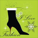 Fashion Winter Boot Royalty Free Stock Image