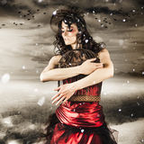 Fashion. Winter Freedom From A Snow Capped Romance Royalty Free Stock Photography