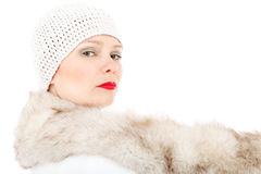 Fashion winter lady Royalty Free Stock Photo