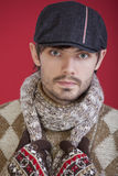 Fashion winter man Royalty Free Stock Photography