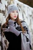 Fashion winter portrait Stock Photos