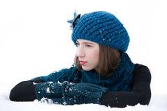 Fashion winter portrait Stock Images
