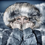 Fashion winter time look Royalty Free Stock Photos