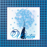 Fashion winter tree holiday card Stock Photography