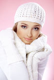 Fashion winter woman Stock Image
