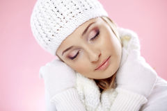 Fashion winter woman Royalty Free Stock Image