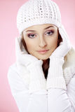 Fashion winter woman Stock Photography
