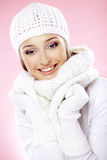 Fashion winter woman Stock Images