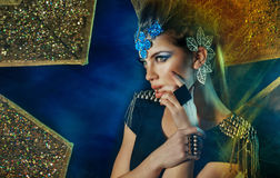 Fashion woman with accessories Stock Photography
