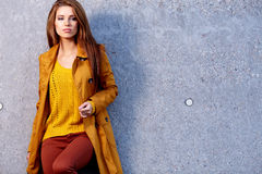 Fashion woman in autumn Royalty Free Stock Photo