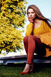 Fashion woman in autumn Royalty Free Stock Photography