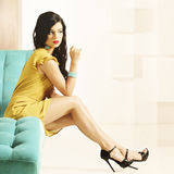 Fashion woman with beautiful legs Royalty Free Stock Photography