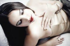 Fashion woman with beautiful makeup Stock Image