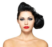Fashion woman with beauty hairstyle Royalty Free Stock Photos