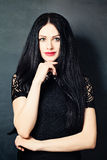 Fashion Woman with Black Hair Stock Images