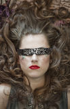 Fashion woman with blindfold Stock Photo