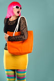 Fashion woman in bright outfit Royalty Free Stock Images