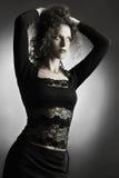 Fashion woman brunette Stock Images