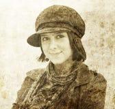 Fashion woman in cap. Stock Photo