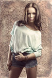 Fashion woman with casual clothes Stock Image