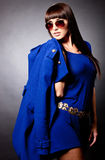 Fashion woman with a coat Royalty Free Stock Photography