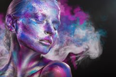 Multi-colored smoke Royalty Free Stock Photography