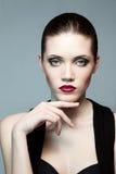 Fashion woman with dark make-up Royalty Free Stock Photo