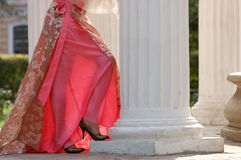Fashion woman dress. Fashion woman in rose dress Stock Photo