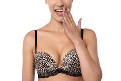 Fashion woman expressing hawww Stock Image