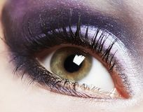 Fashion woman eye makeup. Stock Image